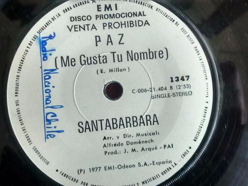 vinilo single de santabarbara -  dama triste ( q66
