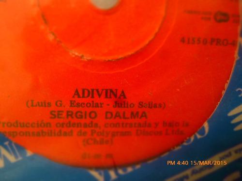 vinilo single de sergio dalma -la vida empieza hoy ( c108