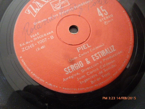 vinilo single de sergio & estibaliz --anabel ( i8