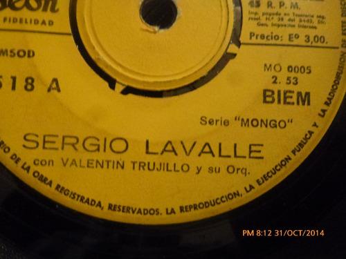 vinilo single de sergio lavalle -- desnivel( b88
