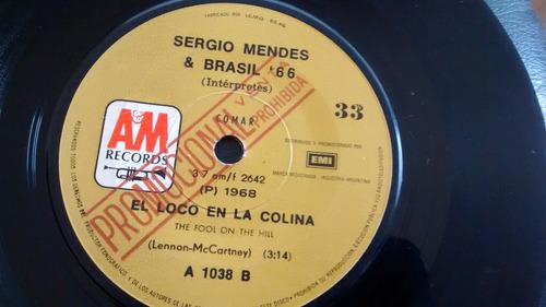 vinilo single de sergio mendes -- el loco en la ( u149