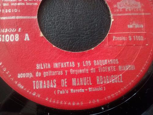 vinilo single de silvia infanta -chile compañero    (a2191