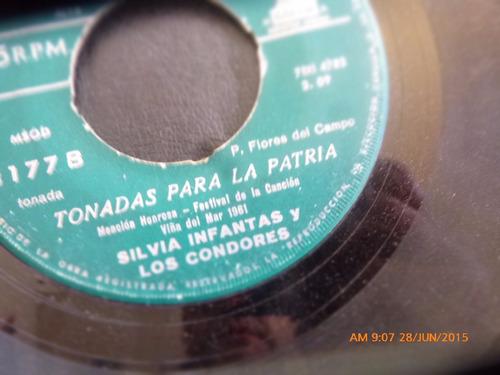 vinilo single de silvia infantas y los condores -- ton( n86