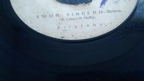 vinilo  single de silvinho -- esta noche       ( u108