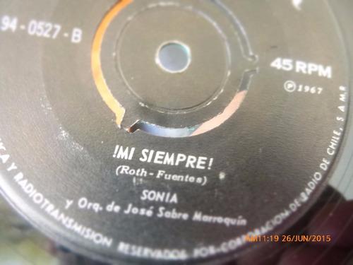 vinilo single de sonia - bravo -( n132