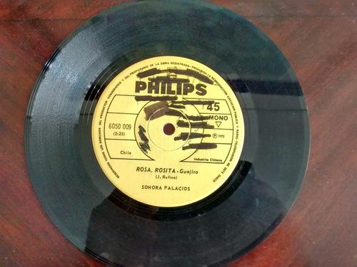 vinilo single de sonora palacios - buen dia mama ( r13ac145