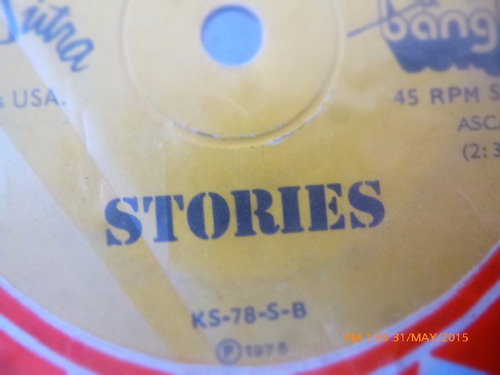 vinilo single de stories -- querida - (h116