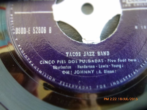 vinilo single de tacos jazz band - margarita  ( r88