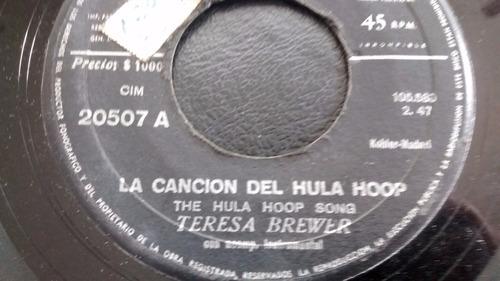 vinilo single de teresa brewer -la cancion del hula ho( u112
