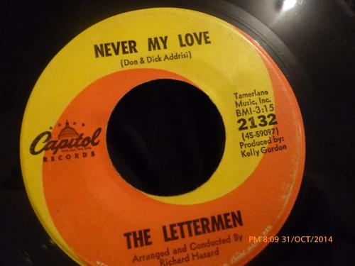 vinilo single de the lettermen --sherry dont go ( b60