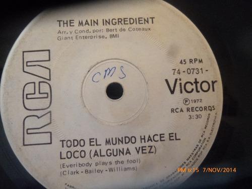 vinilo single de the main ingredient -a quie puedo rec( v6