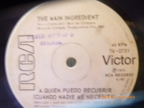 vinilo single de the main ingredient -a quie puedo rec( v6