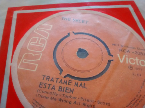 vinilo single de the sweet - co-co ( e95