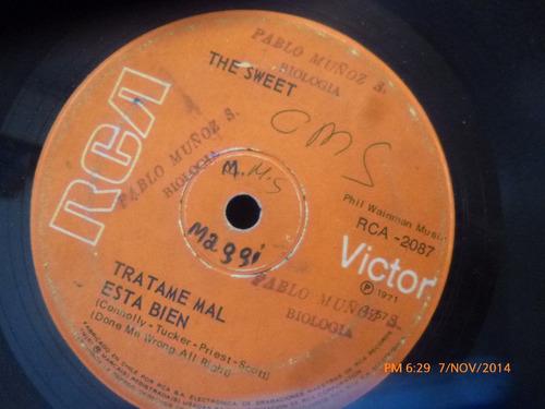 vinilo single de the sweet -- co -co(  s118