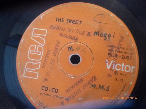vinilo single de the sweet -- co -co(  s121