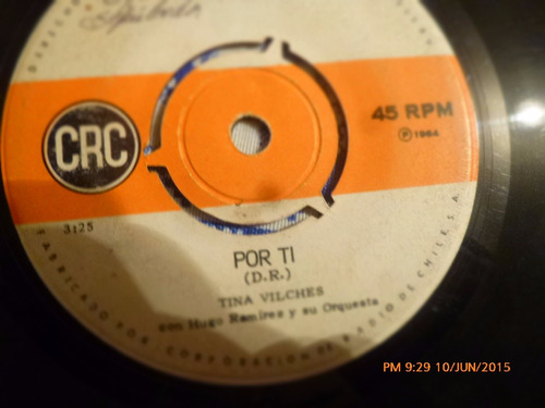 vinilo single de tina vilches -- por ti ( q37