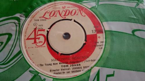 vinilo single de tom jones -- marioneta mexicana ( c53