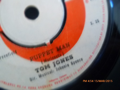 vinilo single de tom jones --puppet man ( c139