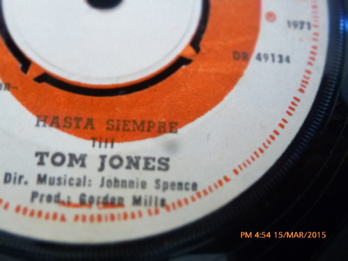 vinilo single de tom jones -un dia pronto ( c134