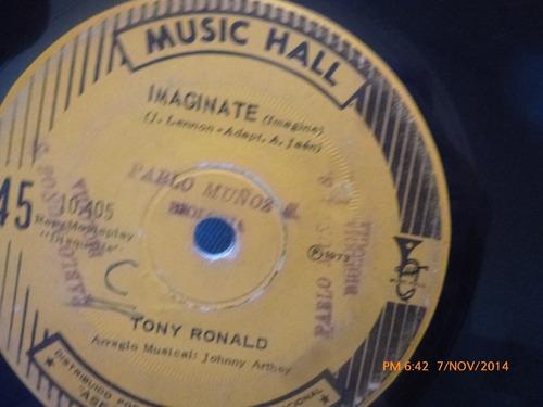 vinilo single de tony ronald --dejame la llave(a471