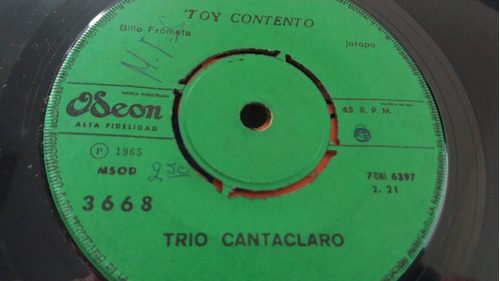 vinilo single de trio cantaclaro rio manzanares (o -109