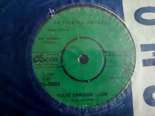 vinilo single de tulio enrique leon -seleccion de pors(  c1