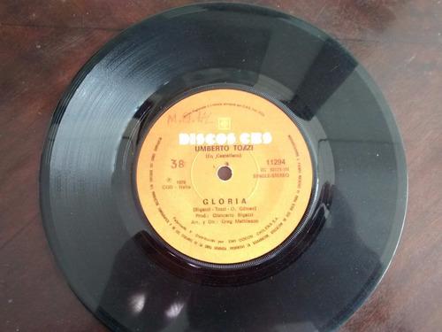 vinilo  single de  umberto tozzi  - gloria ( q132