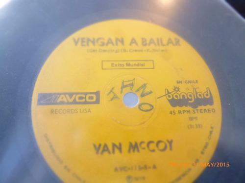 vinilo single de  van  mccoy -- vengan a bailar    ( h108