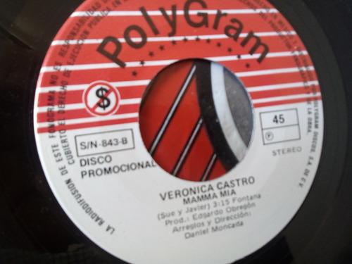 vinilo single de verónica castro mamma mia (95ch