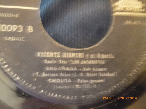 vinilo single de  vicente bianchi -- la flor de la can( s89