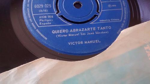 vinilo single de victor manuel  -maria coraje ( j130