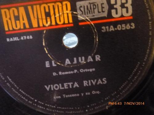 vinilo single de violeta rivas -- el ajuar  ( a78