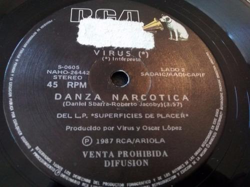 vinilo single de virus - danza narcotica ( l l 31
