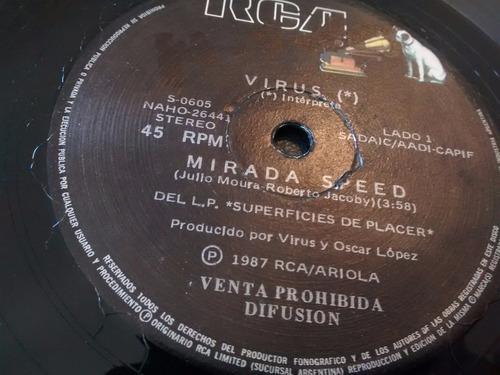 vinilo single de virus - danza narcotica ( p102