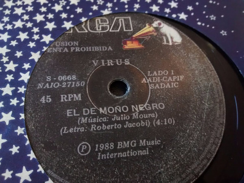 vinilo single de virus - el del moño negro ( p129