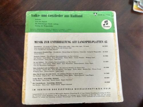 vinilo single de volks - und tanzlieder aus rusland ( u18