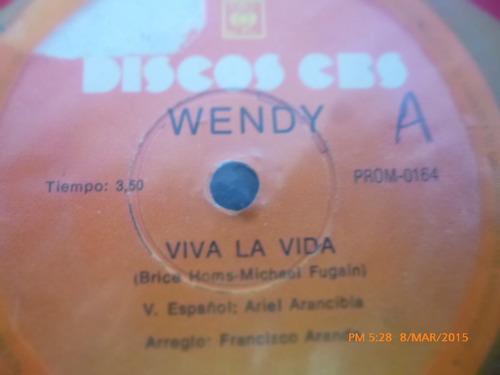vinilo single de wendy  --al paso ( a123
