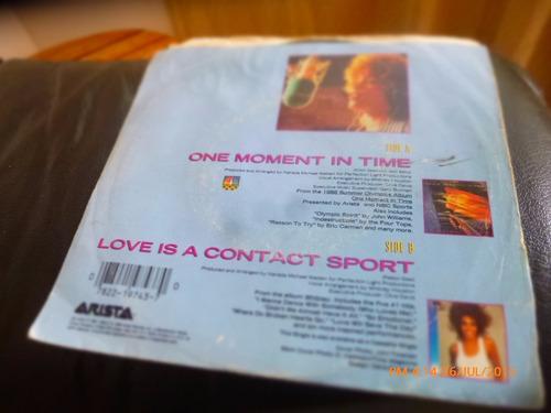vinilo single de whitney houston - one moment in ( n46