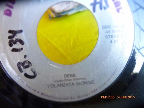 vinilo single de yolandita monge --debil   --( q50