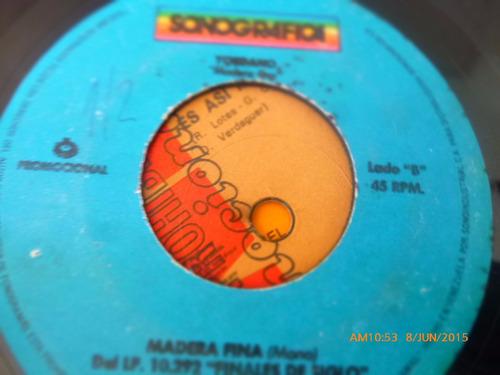vinilo single de yordano -- madera fina ( h63