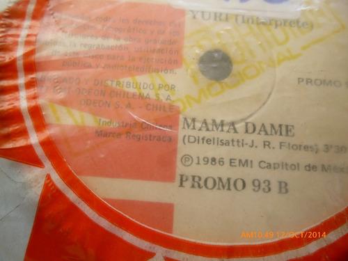 vinilo single de yuri -- mama dame ( b140