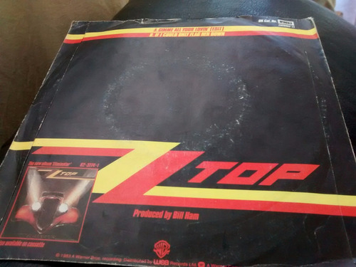 vinilo single de zz top - gimme all your ( t38