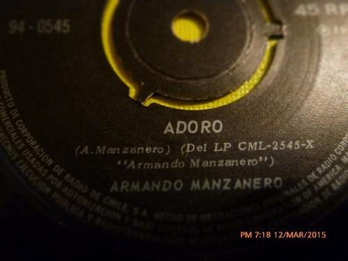 vinilo single - dearmando manzanero -esta tarde ( i46