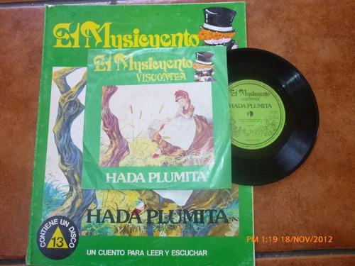 vinilo single del cuento hada plumita más libro(842