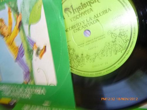 vinilo single del cuento jacobito y alubia encantada p(847