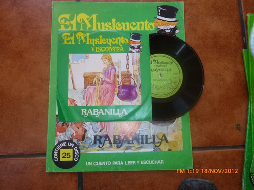 vinilo single del cuento rabanilla más libro(834