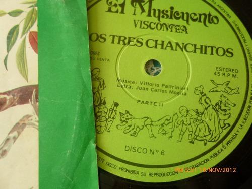 vinilo single del cueto  los tres chanchitos parte 2 (ac145