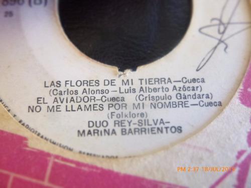 vinilo single del duo rey silva - mario catalan     ( k84