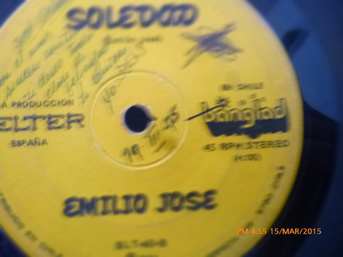 vinilo single del emilio jose -soledad  ( c141