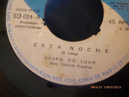 vinilo single del grupo do luar -- esta noche ( s108